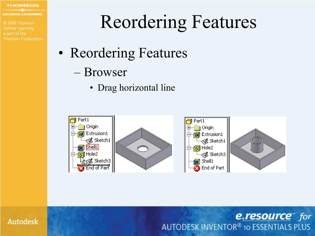 Reordering Features