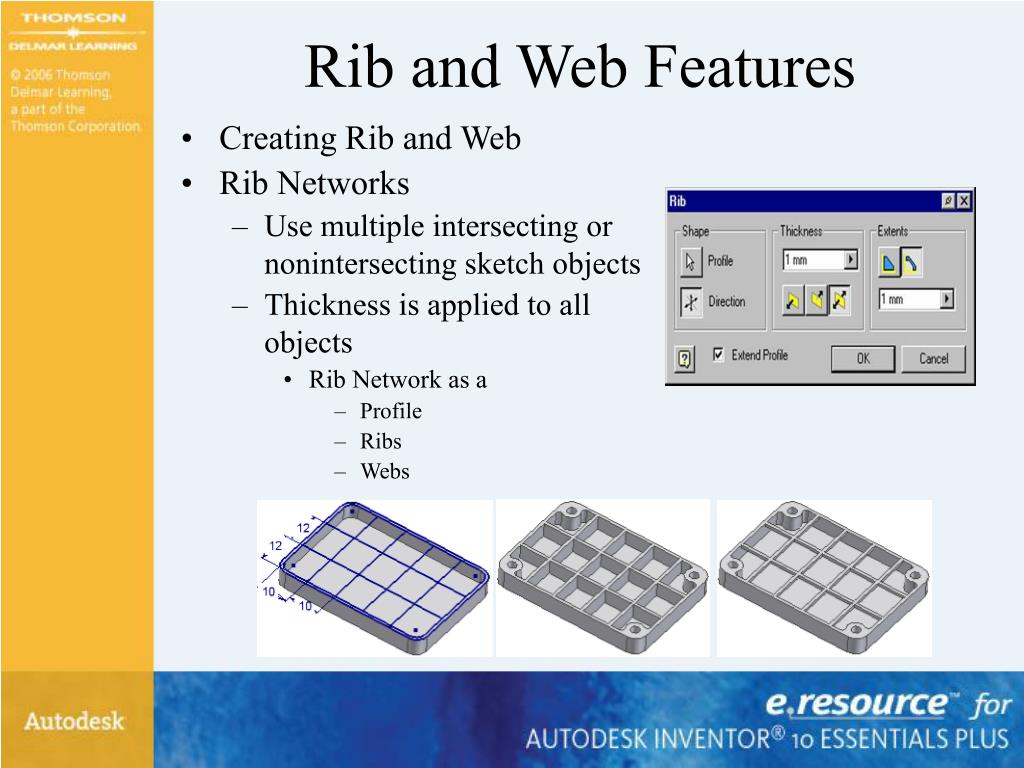 Rib and Web Features