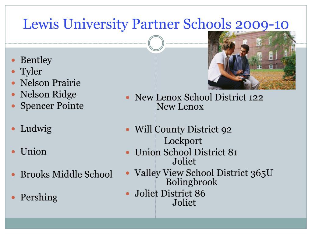 Lewis University Partner Schools 2009-10
