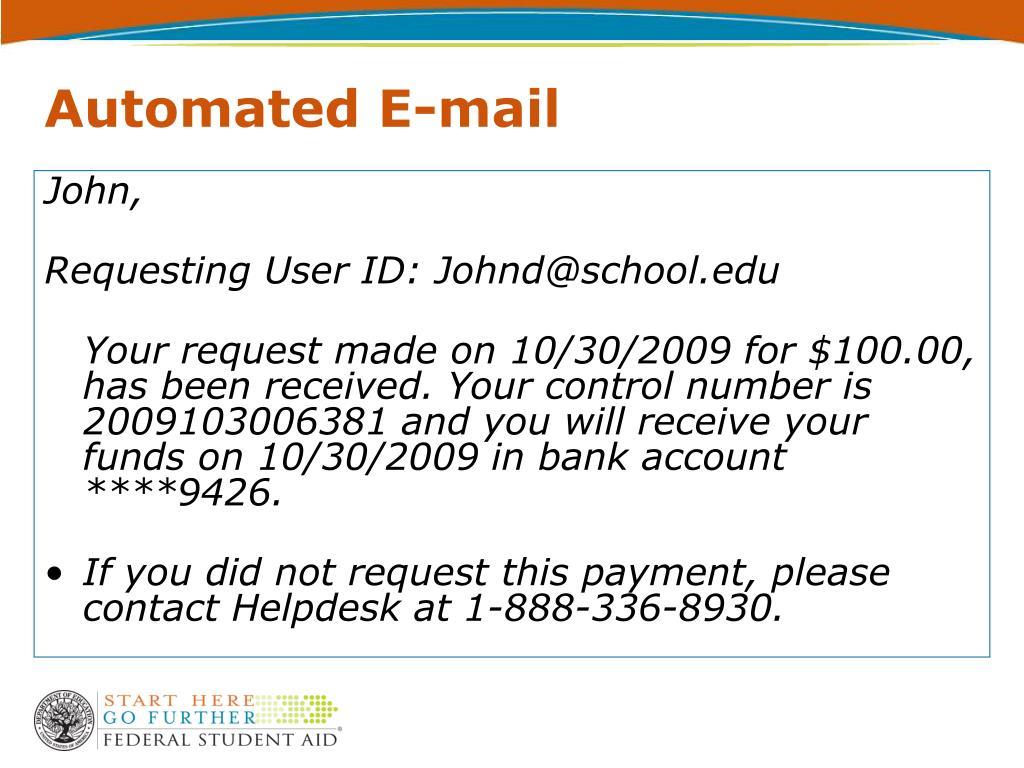 Automated E-mail