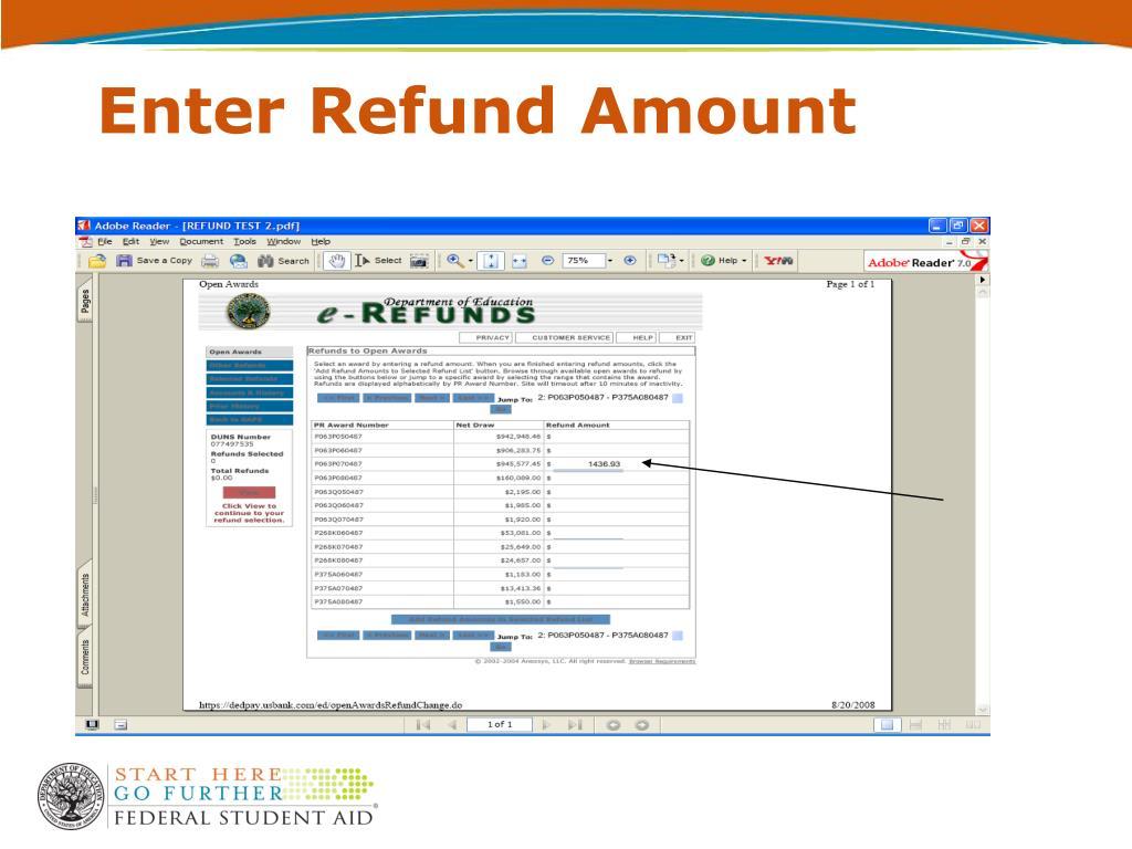 Enter Refund Amount