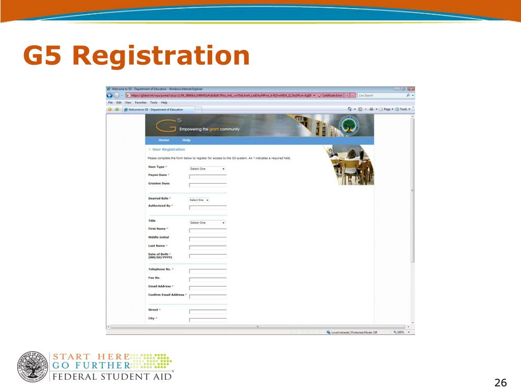 G5 Registration