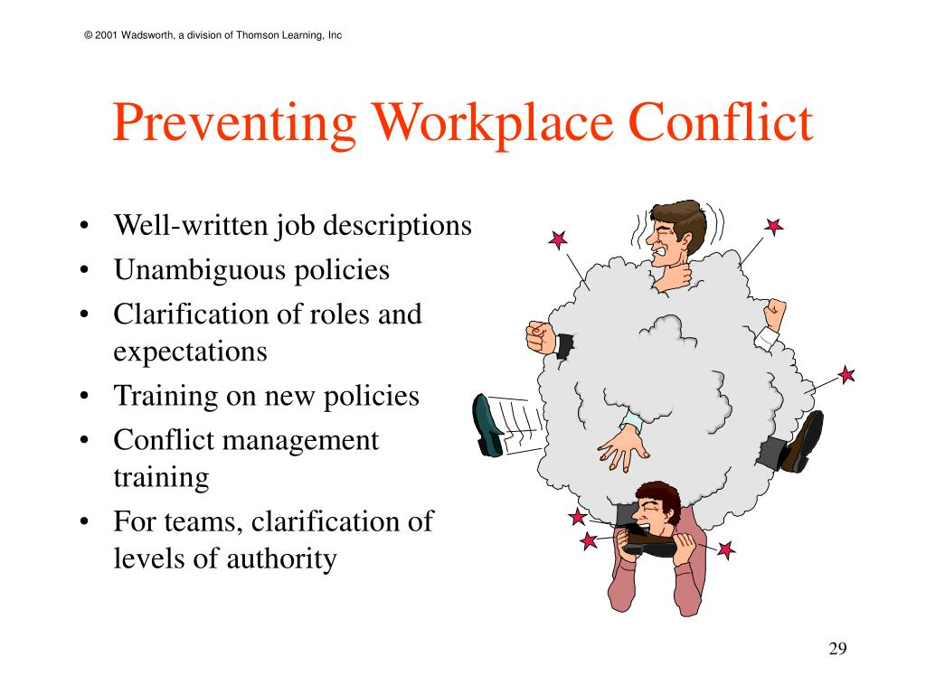 Preventing Workplace Conflict