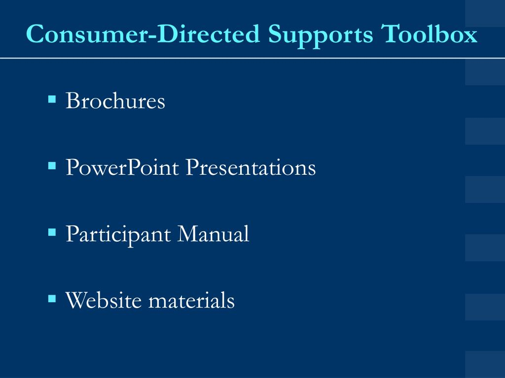 Consumer-Directed Supports Toolbox
