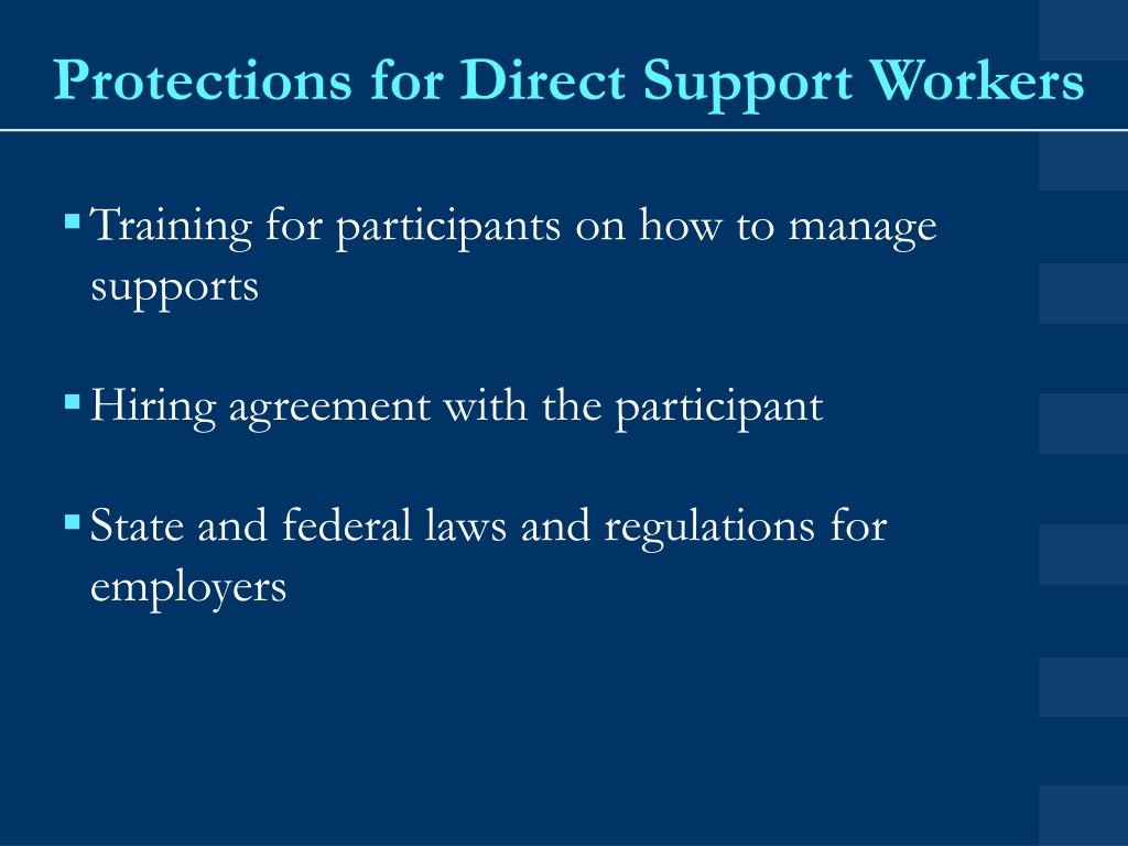 Protections for Direct Support Workers