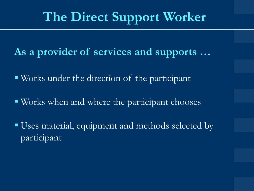 The Direct Support Worker