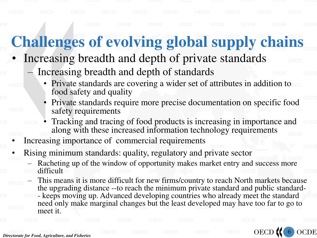 Challenges of evolving global supply chains