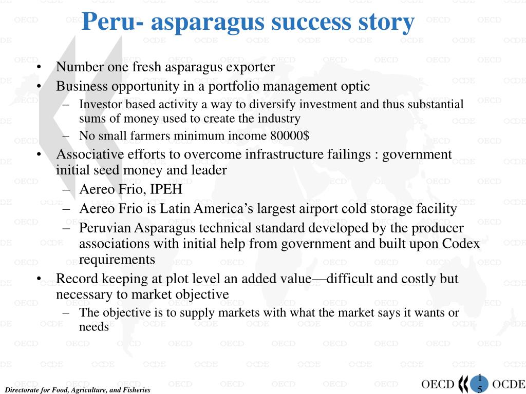 Peru- asparagus success story