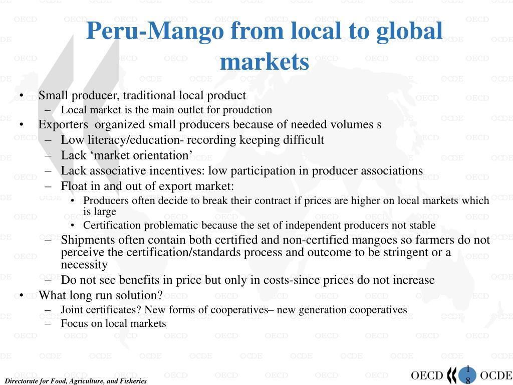 Peru-Mango from local to global