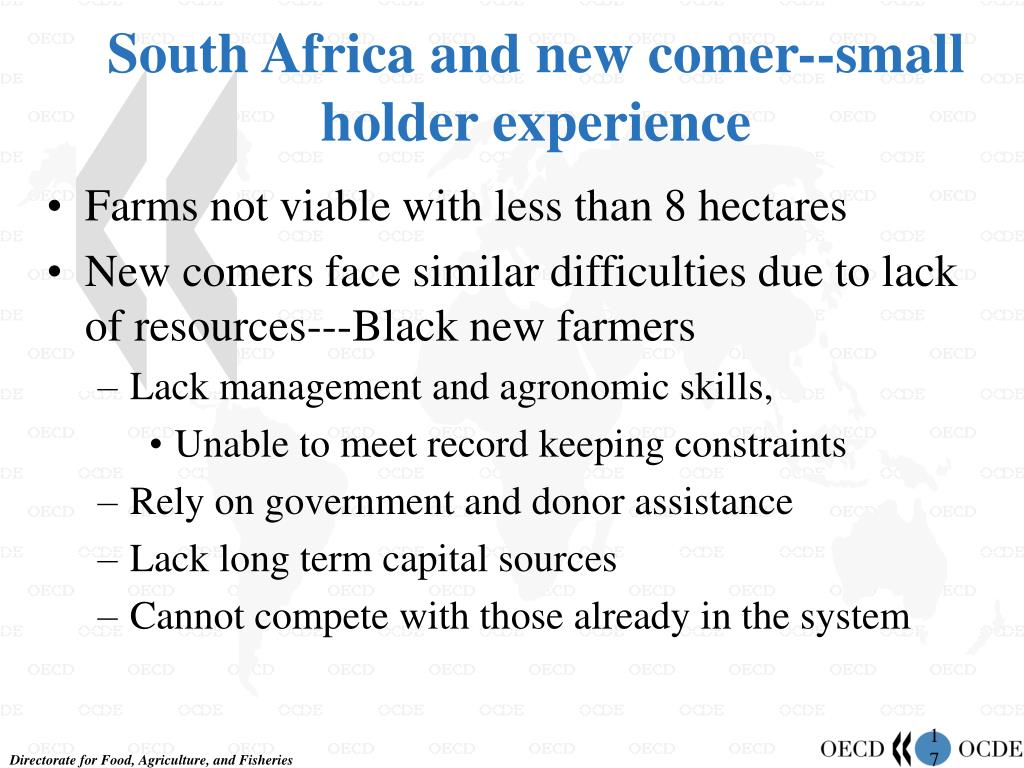 South Africa and new comer--small holder experience