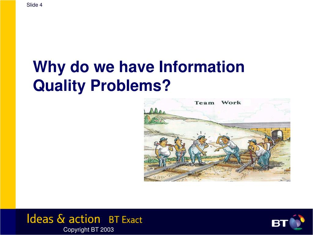 Why do we have Information Quality Problems?