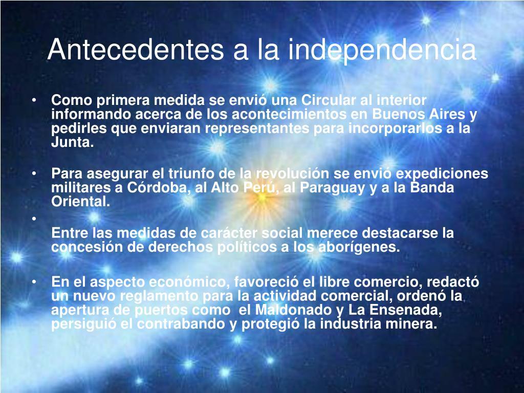Antecedentes a la independencia