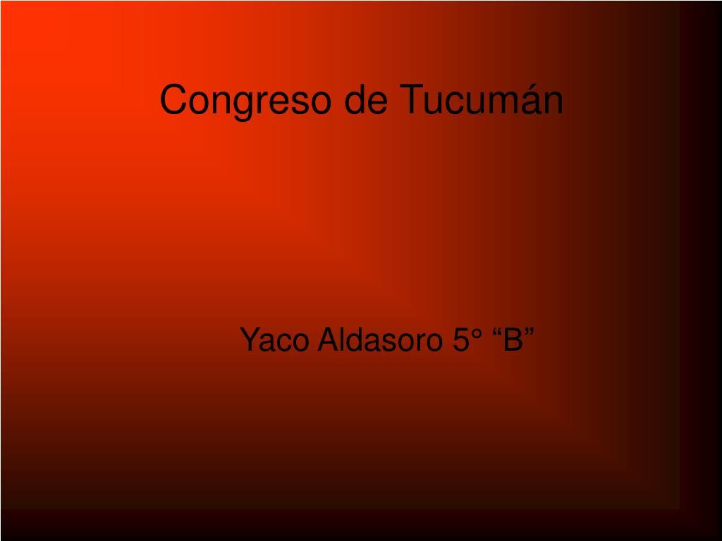 Congreso de Tucumán