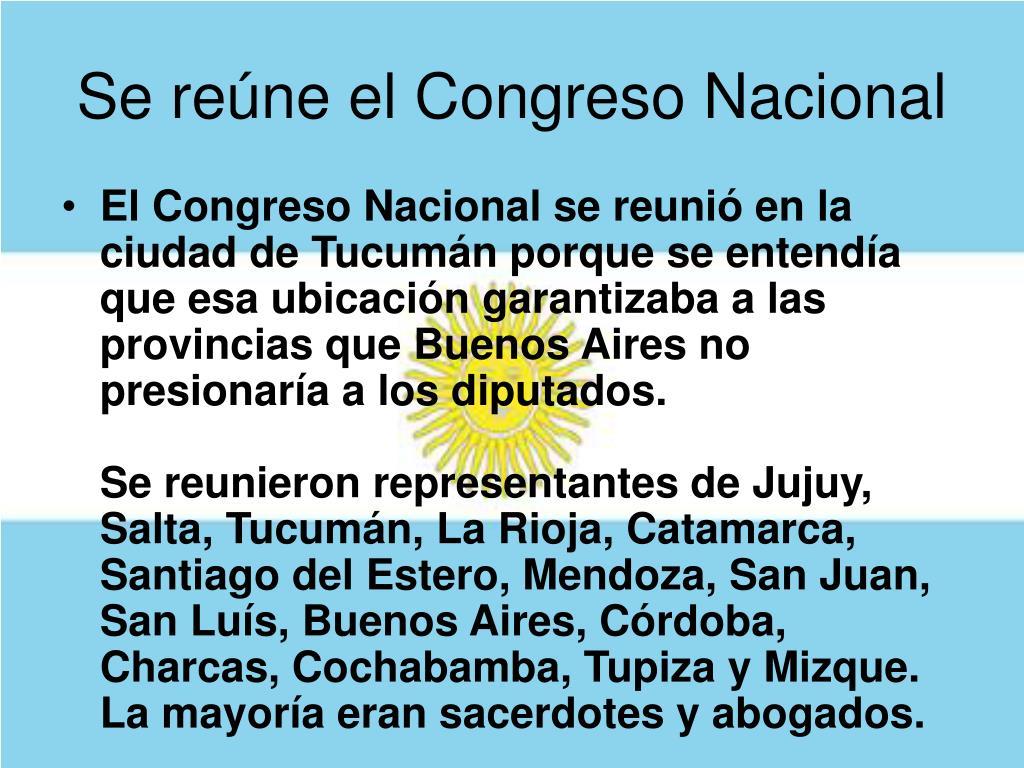 Se reúne el Congreso Nacional