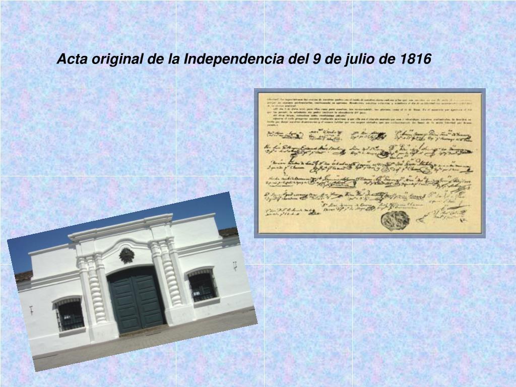 Acta original de la Independencia del 9 de julio de 1816