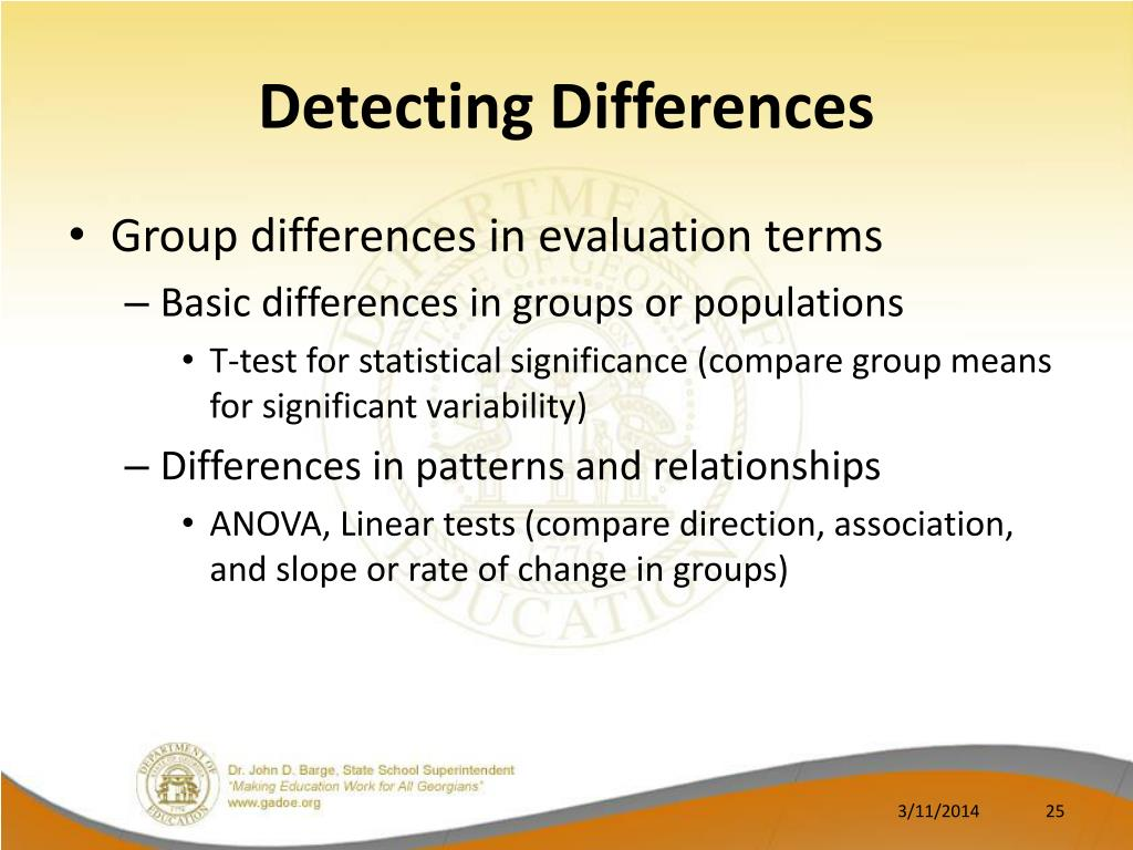Detecting Differences