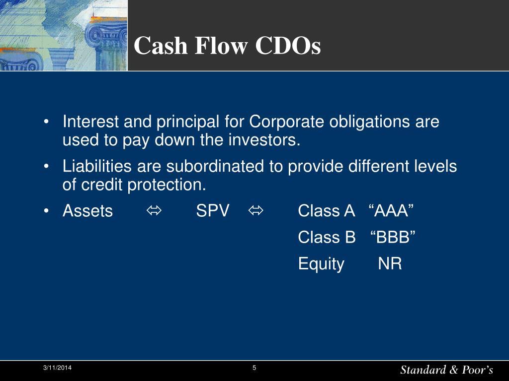 Cash Flow CDOs