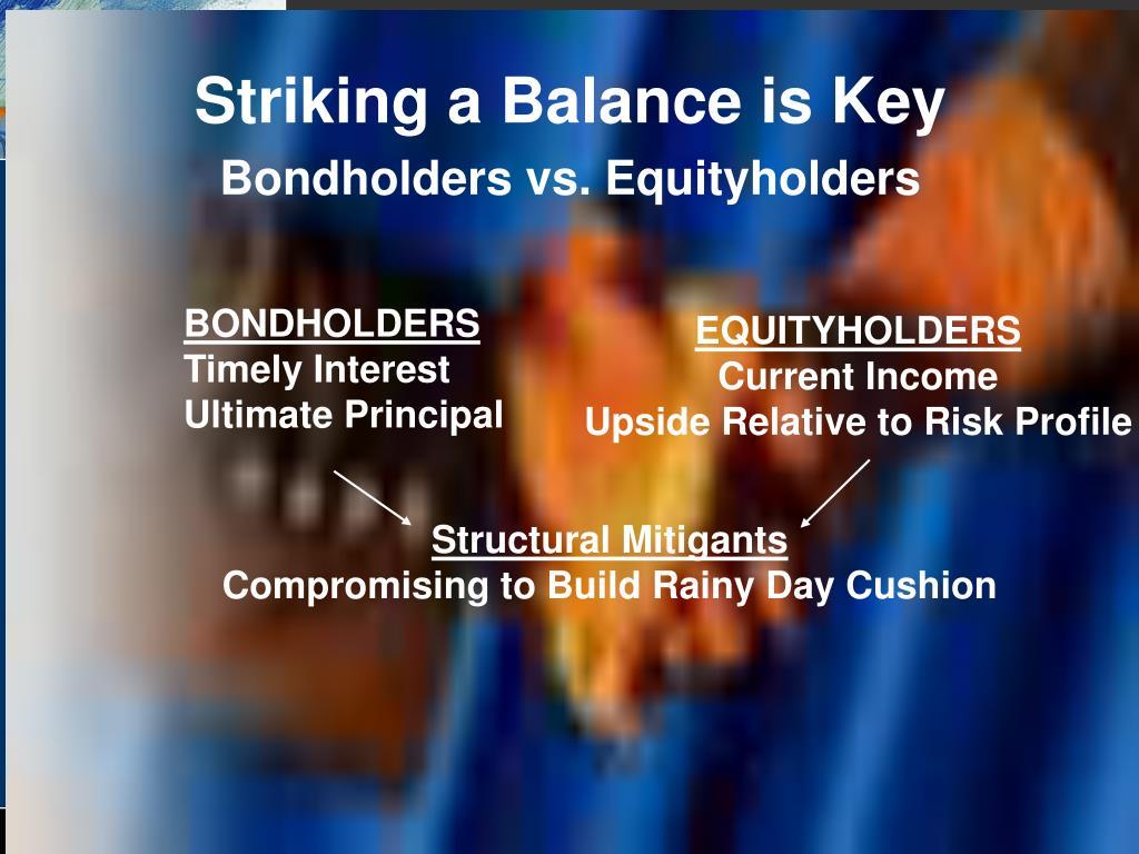 Striking a Balance is Key