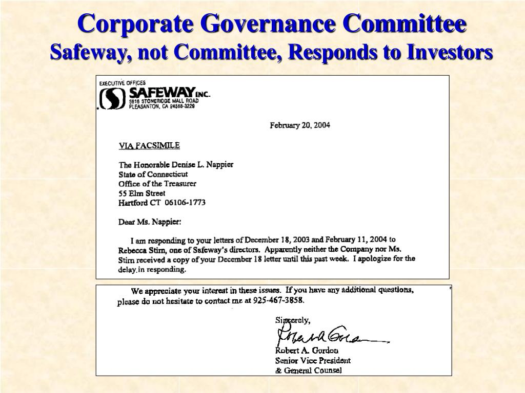Corporate Governance Committee
