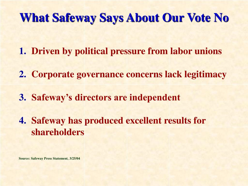 Driven by political pressure from labor unions