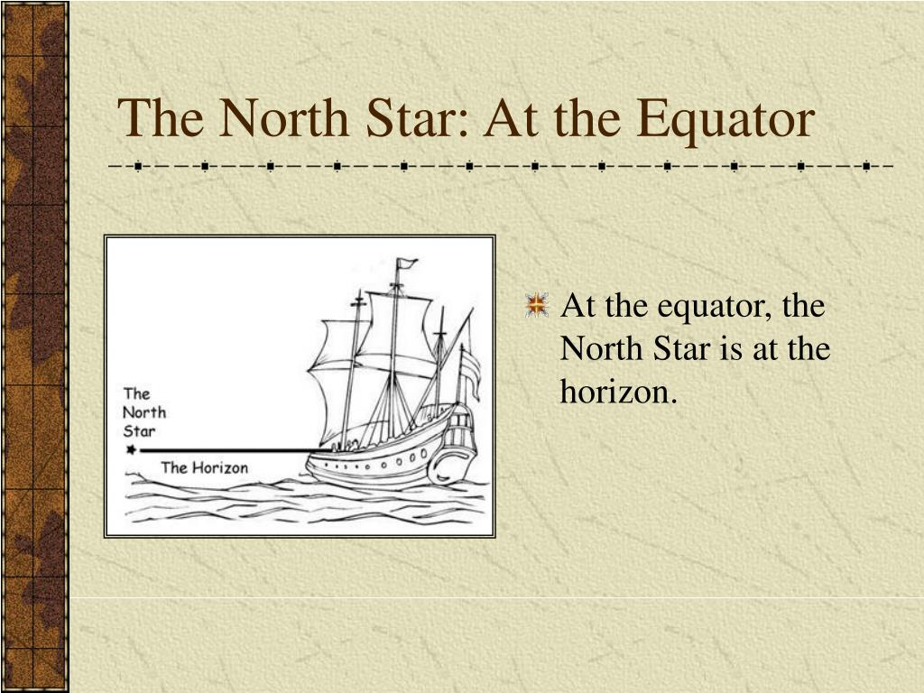 The North Star: At the Equator