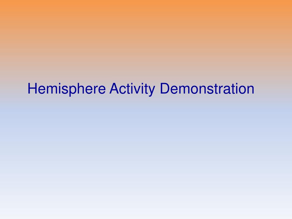 Hemisphere Activity Demonstration
