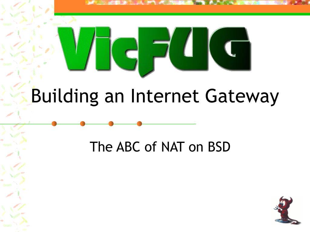 Building an Internet Gateway