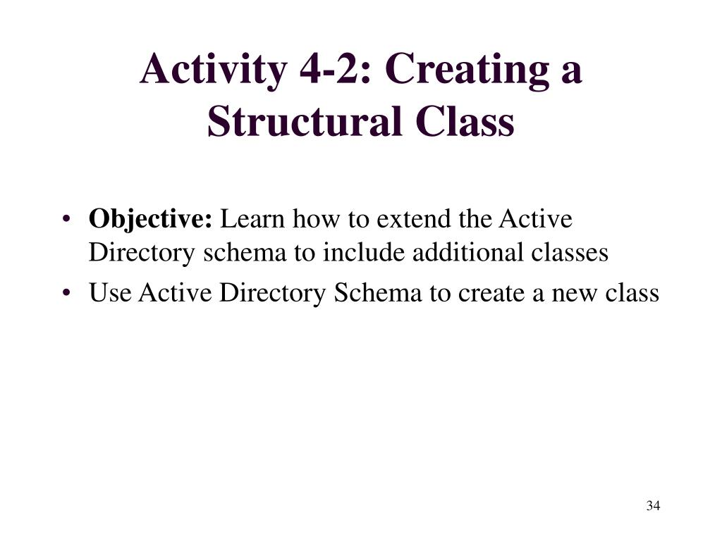 Activity 4-2: Creating a Structural Class
