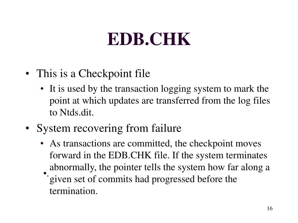 EDB.CHK