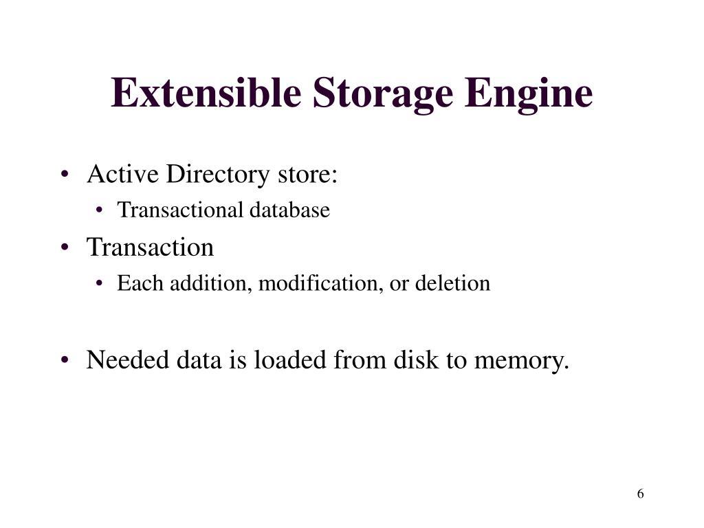 Extensible Storage Engine