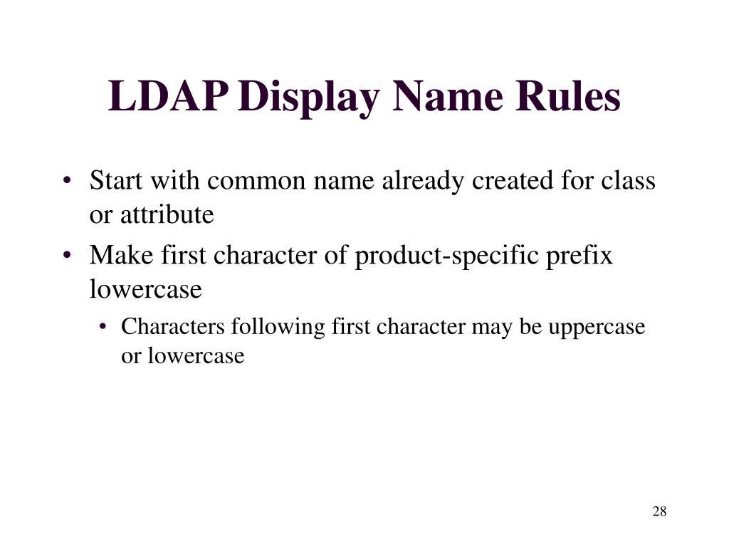LDAP Display Name Rules
