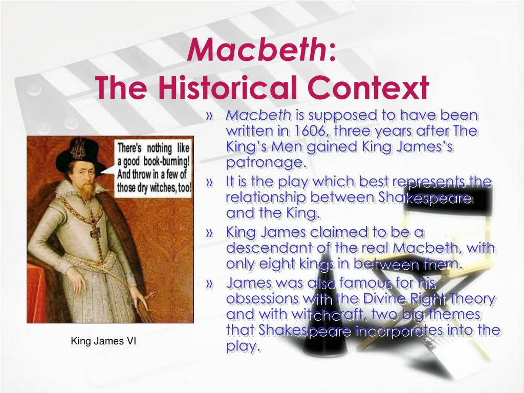 macbeth historical context The character is fictional, but macbeth was a real scottish king with a wife   although history has since characterised macbeth as a usurper,.