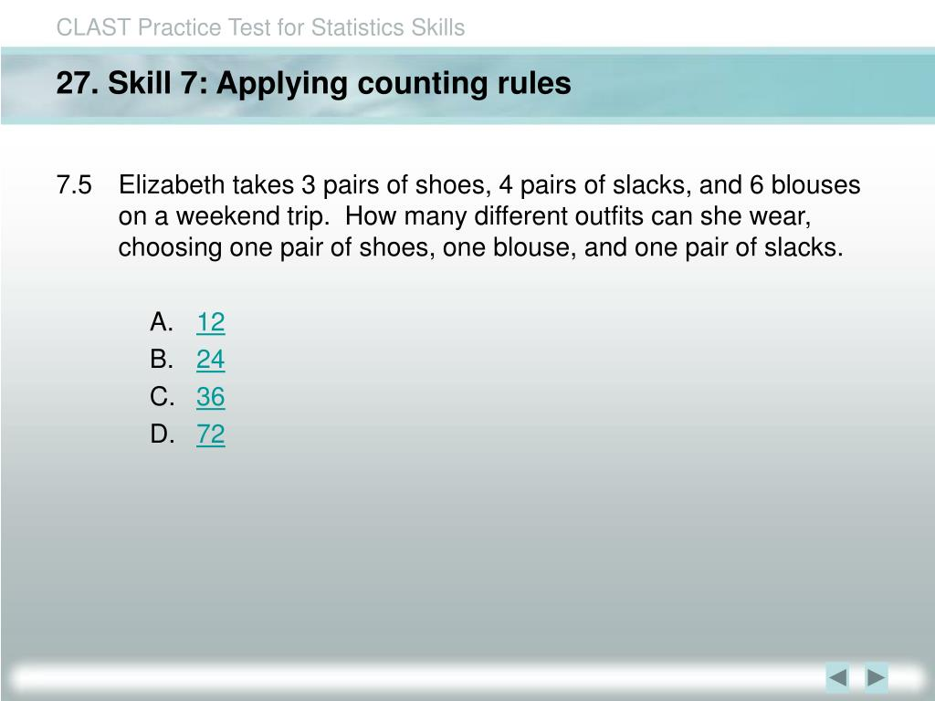 27. Skill 7: Applying counting rules