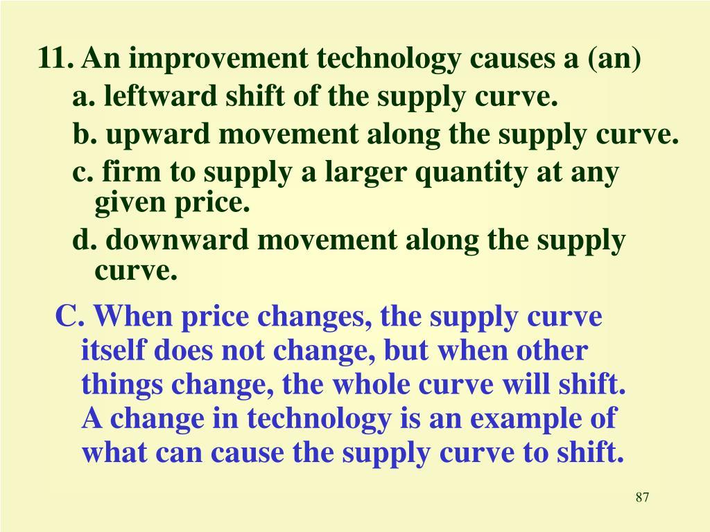 11. An improvement technology causes a (an)