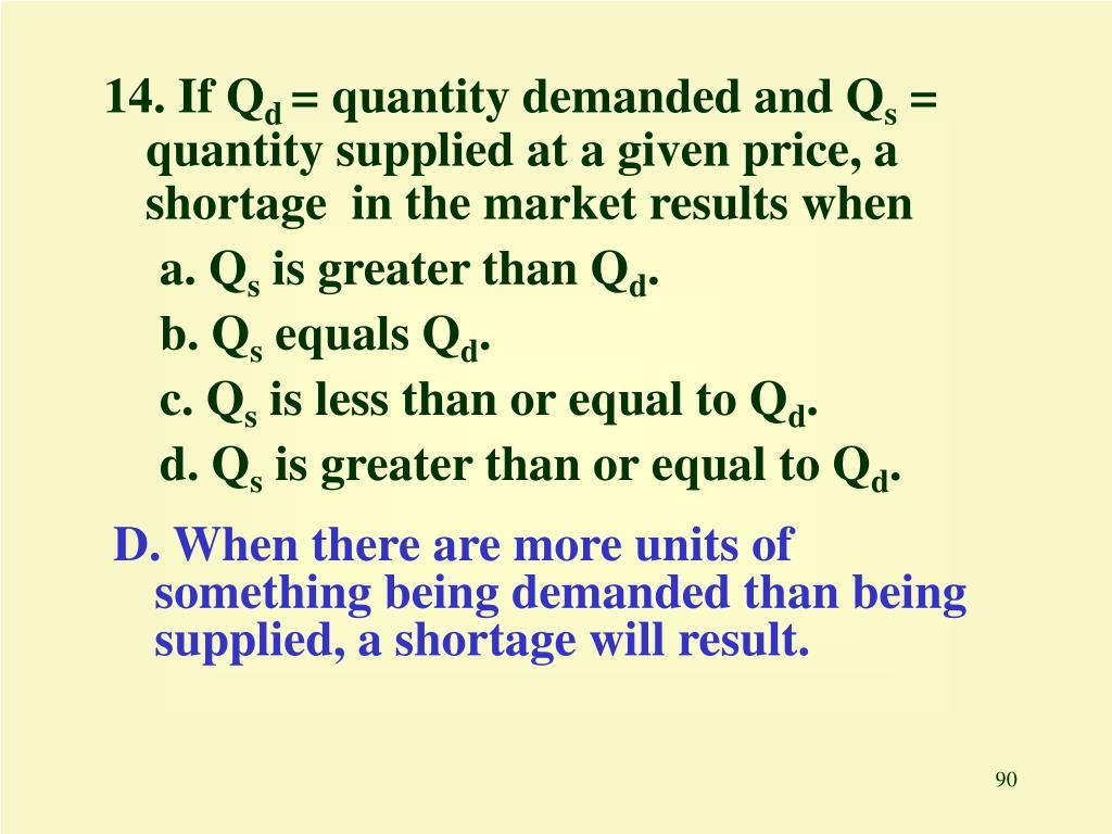 14. If Q
