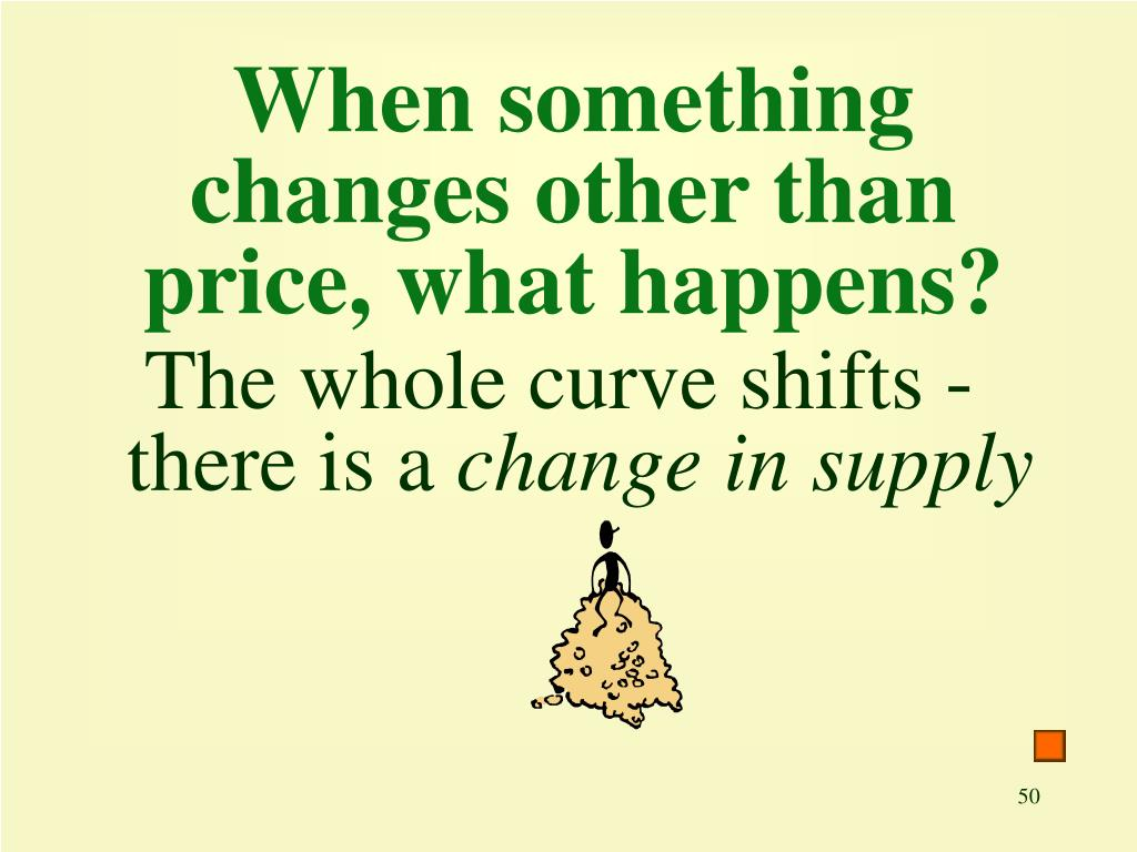 When something changes other than price, what happens?