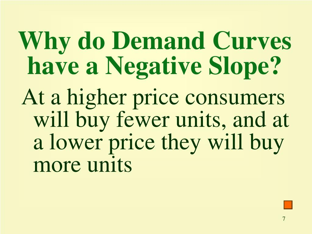Why do Demand Curves have a Negative Slope?