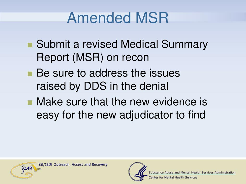 Amended MSR