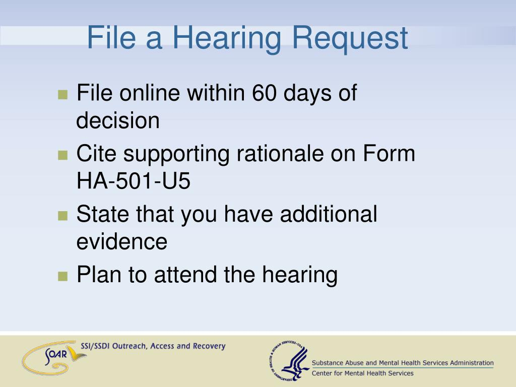 File a Hearing Request