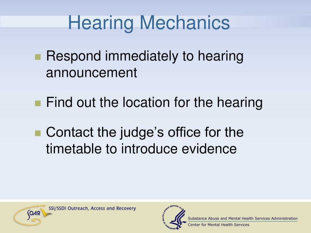 Hearing Mechanics
