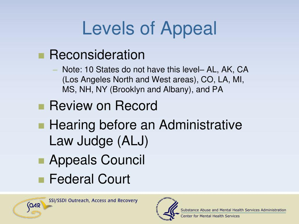 Levels of Appeal