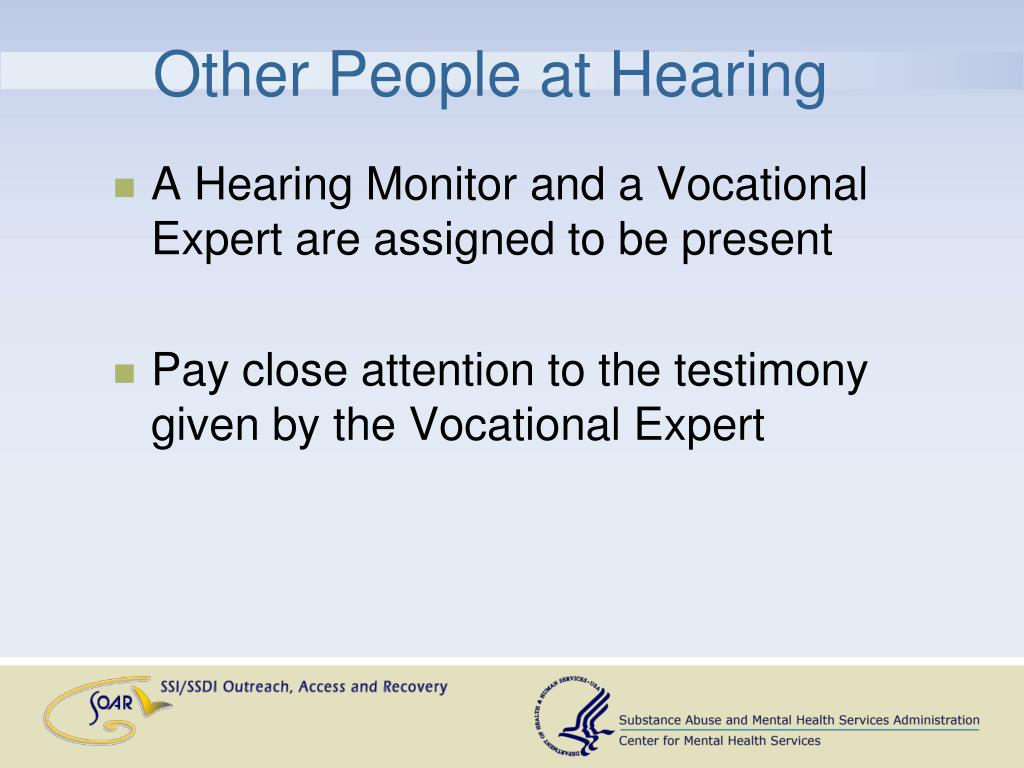 Other People at Hearing