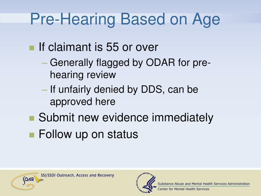 Pre-Hearing Based on Age