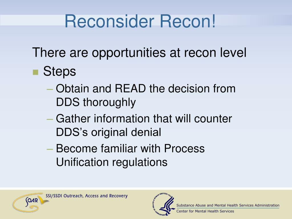 Reconsider Recon!