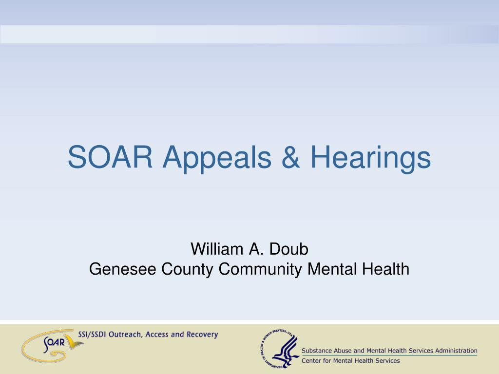 SOAR Appeals & Hearings