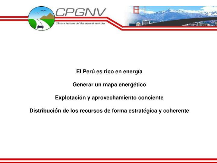 El Perú es rico en energía