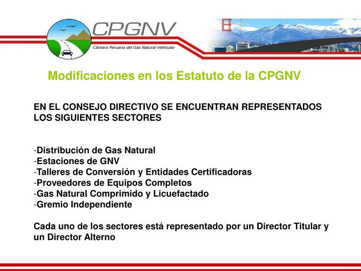 Modificaciones en los Estatuto de la CPGNV