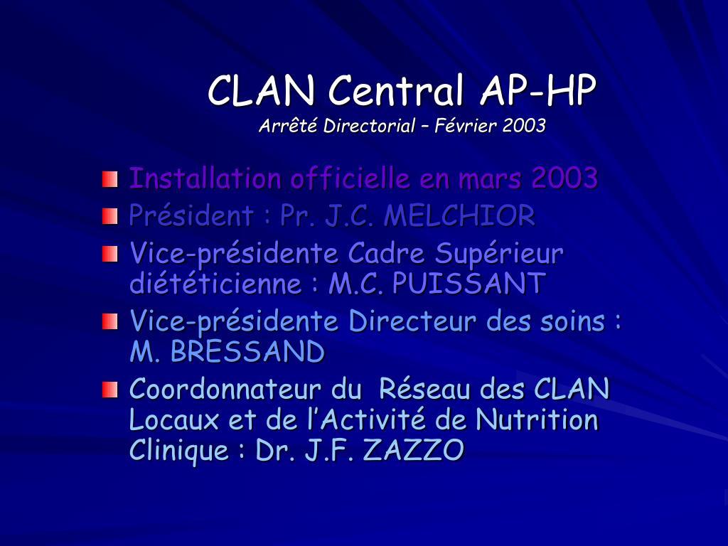 CLAN Central AP-HP