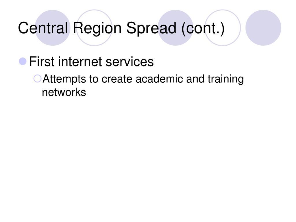 Central Region Spread (cont.)