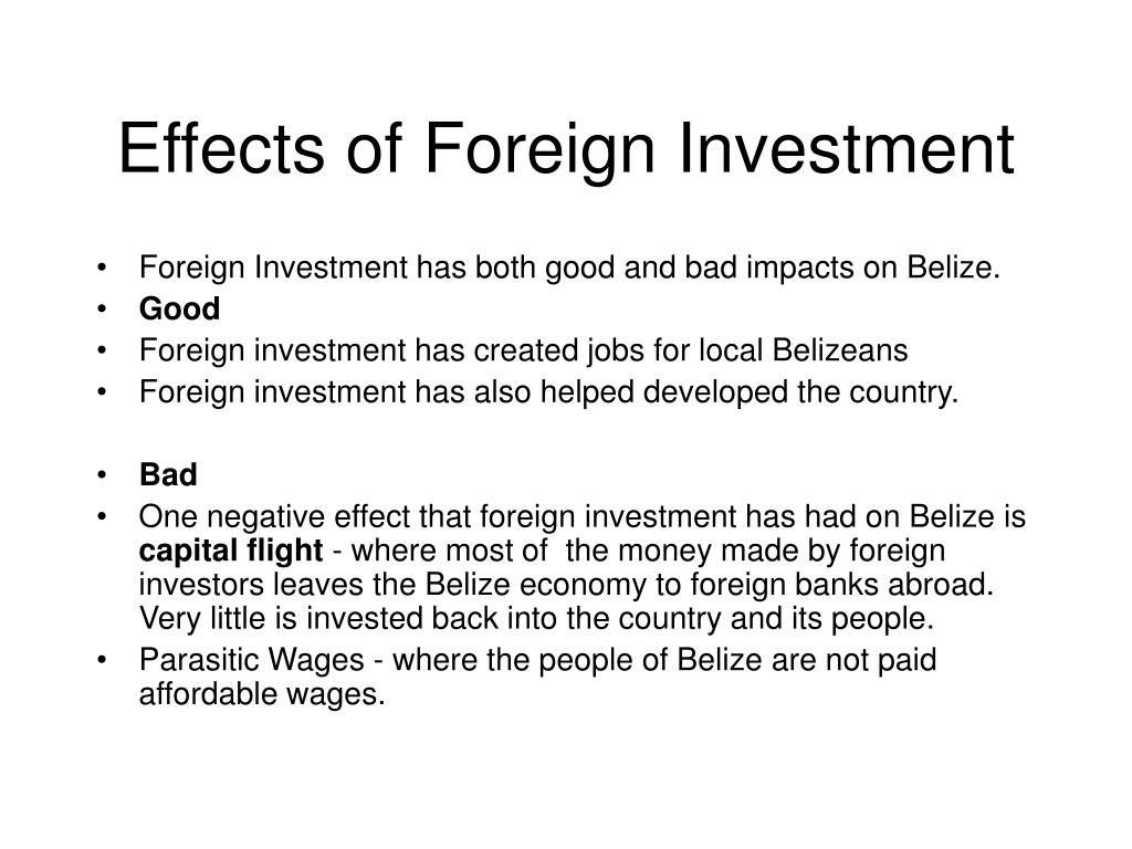 Effects of Foreign Investment